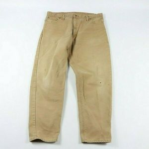 Vintage Carhartt Spell Out Stone Wash Denim Jeans